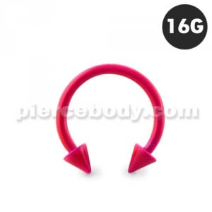 Neon Rose 316L Surgical Steel Circular Barbell with Cone