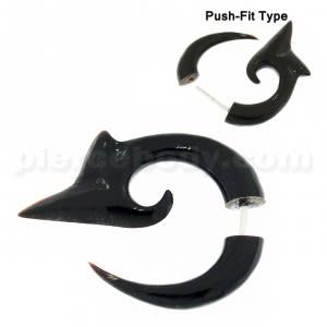 Arrow Head Organic Horn Tribal Invisible Ear Plug