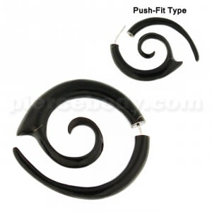 Organic Horn Long Spiral 5 mm Fake Ear Plug Gauges