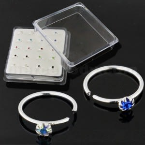 925 Sterling Silver Laser Cut BCR Nose Ear Tragus Ring