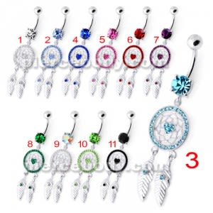 Dream Catcher Silver Belly Bar