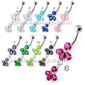 Fancy Jeweled Navel Belly Ring PBM2118