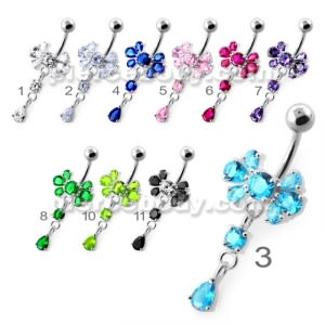 Fancy Jeweled Navel Belly Ring PBM2120