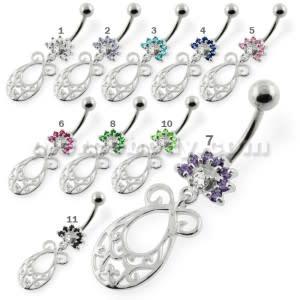 Fancy Jeweled belly button piercings