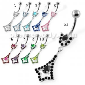 Fancy Jeweled belly button bars