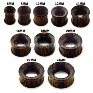 Organic Iron and Palm wood Ear Plug Gauges