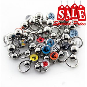 25 Pieces of Mix Size BCR with Logo Balls