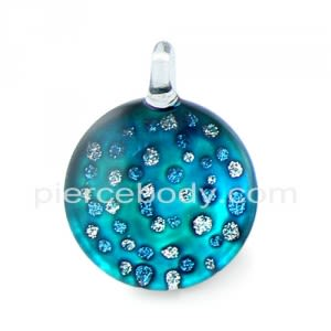 Glittering Pebble Glass Pendant