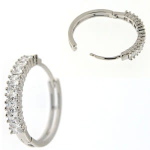 Fancy Jeweled Half Setting Stone Ear Clip