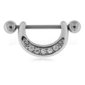 Micro paved CZ Nipple Piercing Jewelry
