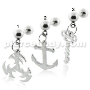 Surgical Steel Dangling Tragus Piercings
