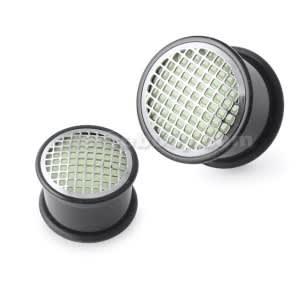 Glow In The Dark Checker Plate Ear Plug