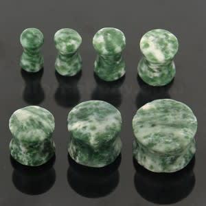 Colorful Synthetic Moss Agate Stone Saddle Ear plug Gauges