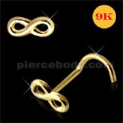 9K Gold Infinity Nose Screw