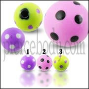 Colorful Heaqrt Dot Hand Painted UV Balls