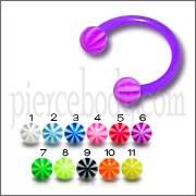 Acrylic Circular Barbells UV Balls CBB Piercings