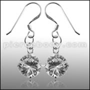8MM 925 Sterling Silver Round CZ Earring
