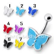Rexine Butterfly Silver Belly Ring
