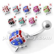 Lady Bug Silver Belly bar