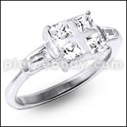 CZ Jeweled Fashionable Silver Ring
