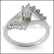 GT-DESIGN 925 Sterling Silver CZ Zircon Crystal Fashion Cute Female Finger Ring