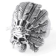 Native American Indian Skull finger ring