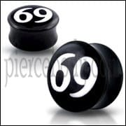 Double Flared 69 Logo Ear Plug