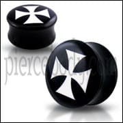 Double Flared Irish Cross Logo Ear Plug