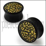 Double Flared Cheetah Logo Ear Plug