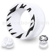 UV Zebra Screw Fit Flesh Tunnel