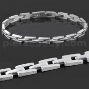 Stainless Steel Classic Plain Mens Bracelet