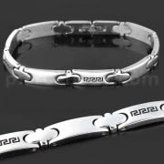 Stainless Steel Classic Tribal Sign Mens Bracelet