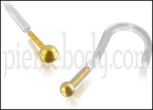 Bio-Plast Nose Screw with 14K Gold Ball Head