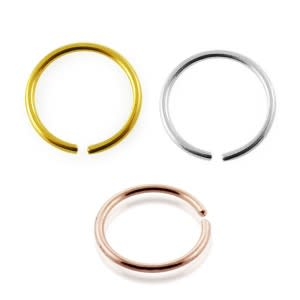 9K Gold Seamless Continuous Hoop Nose Ring in a Box