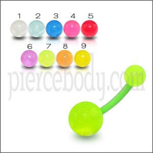 Fancy Green Color UV Belly Banana with UV Balls BAN452