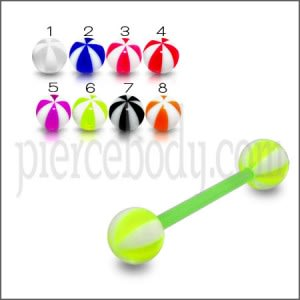 UV Color Barbells with Candy Stripes UV Balls