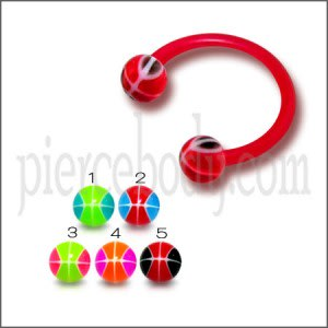 Bio Flexible Bar UV Ball Horseshoe Eyebrow Lip Circular Barbells