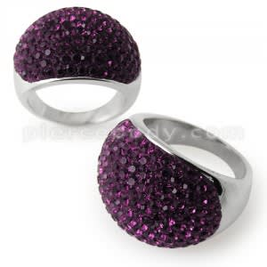 Austrian Crystal Stone Finger Ring
