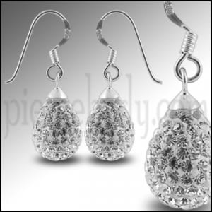 Crystal stone Tear Drop Earring