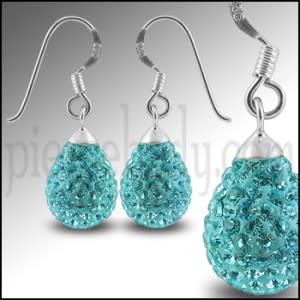 Crystal stone Tear Drop Earring