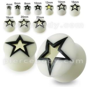 Hollow Star Bone Ear Plug