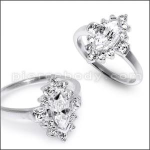 Women's Fashion Grace Vintage Rhinestone Finger Jewelry Ring