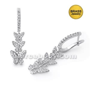 Micro Setting Jeweled Butterfly Earring