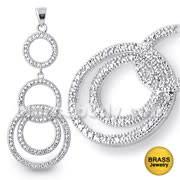 Micro Stone Setting Jeweled Fancy Pendant