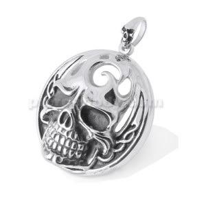 Stainless Steel Burning Skull Pendant