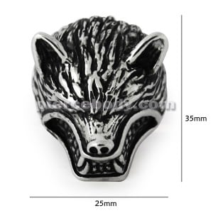 Stainless Steel Werewolves Finger Ring