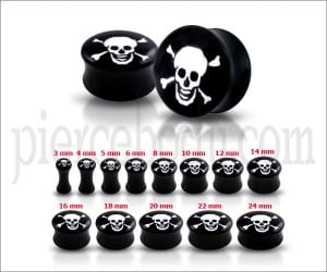Laughing Skull Logo Ear Plug