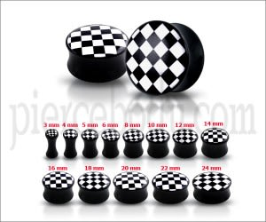 Double Flared Checker Logo Ear Plug UFCR