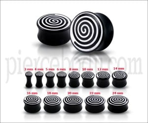 Double Flared Spiral Logo Ear Plug