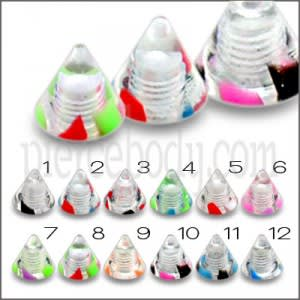 UV Fancy Cones For Lip Eyebrow Piercing